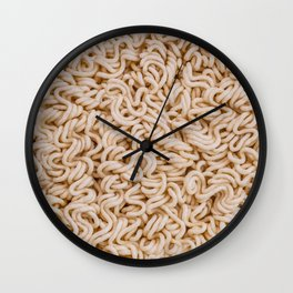 Instant Ramen Noodle II Photo Pattern Wall Clock