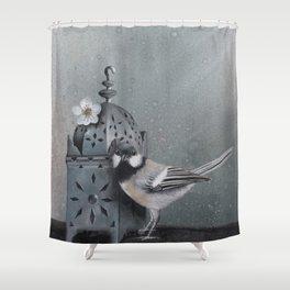 Big Tit & Lantern Shower Curtain