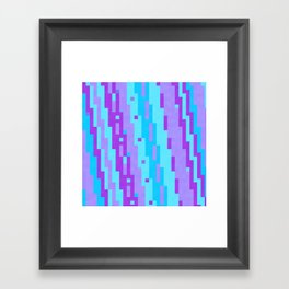 Turquoise blue and purple Framed Art Print