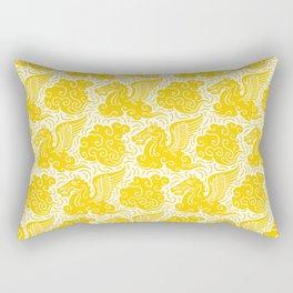 Pegasus Pattern Yellow Rectangular Pillow