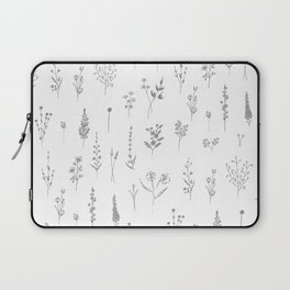 Wildflowers - Grey Flowers Laptop Sleeve