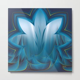 Color Meditation - Blue  Metal Print