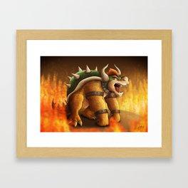 King Bowser Framed Art Print