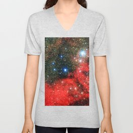 Gold Dusted Galaxy Unisex V-Neck