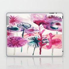Vibrant Abstract Pink Flower Watercolor Design II Laptop & iPad Skin