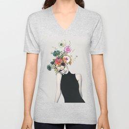 Floral beauty Unisex V-Neck