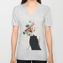 Floral beauty Unisex V-Neck
