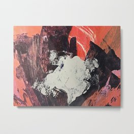Amazon [2]: a bright, colorful, abstract piece in orange, red, deep purple, and light blue Metal Print