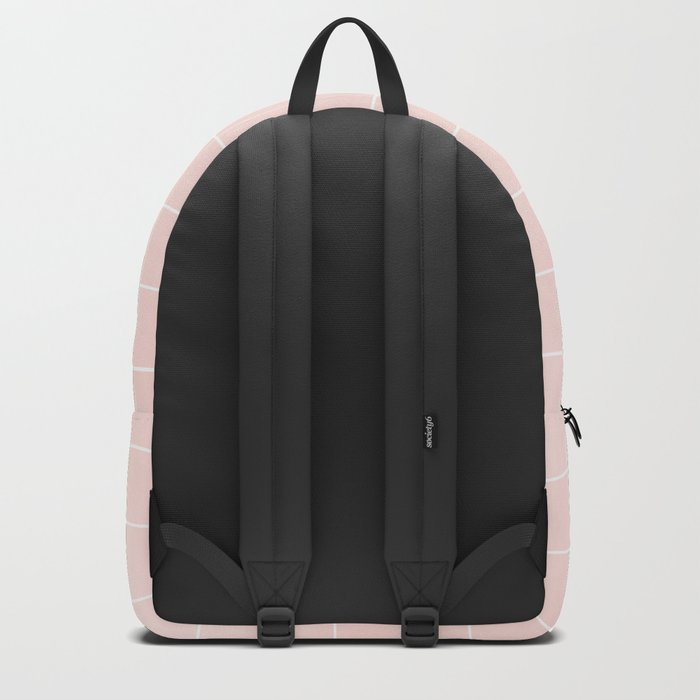 Pink Coral Grid Backpack