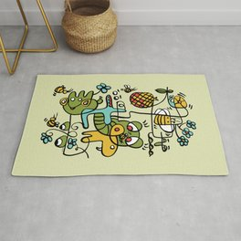 The Buzzz Doodle Monster World by Pablo Rodriguez (Pabzoide) Rug