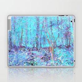 Van Gogh Trees & Underwood Aqua Lavender Laptop & iPad Skin