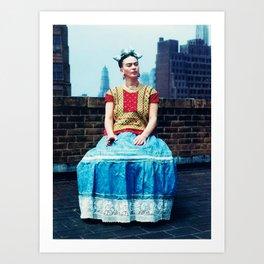 FRIDA IN NEW YORK Art Print