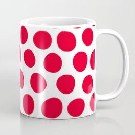 Juicy Red Apple Polka Dots with White Coffee Mug