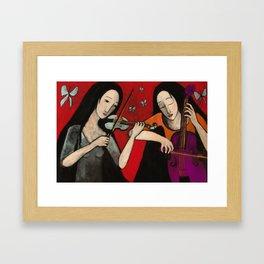 Winged music Framed Art Print
