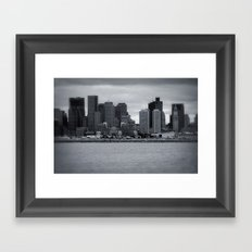 City and Airfield Framed Art Print