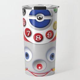 Classic Retro vintage Smiley Toys Dial Phone Travel Mug