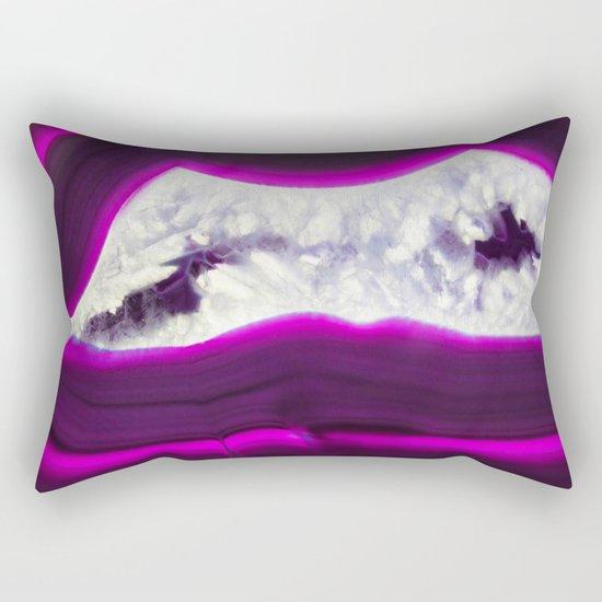 Luminescent Agate Rectangular Pillow