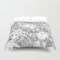 melbourne Duvet Covers featuring MELBOURNE by Maps Factory