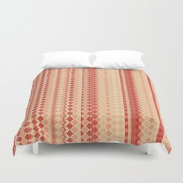 Red & Cream - by Fanitsa Petrou Duvet Cover