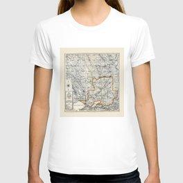 Map of Napa & Solano Counties, California (1913) T-shirt