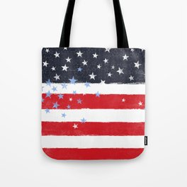 Patriotic Grunge Stars and Stripes Tote Bag