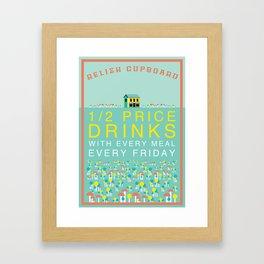 Half Price Drinks Framed Art Print