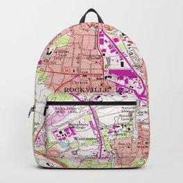 Vintage Map of Rockville Maryland (1965) Backpack