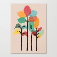 tropical Canvas Prints featuring Tropical Groove by Picomodi