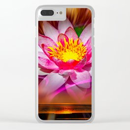 Wellness - Water Lily Clear iPhone Case