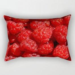 Wild berries of forest raspberries Rectangular Pillow