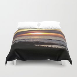 Streaked Sunset Duvet Cover