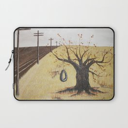 Tire Swing, Old Tree and Swing Painting Laptop Sleeve