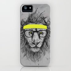 hipster lion Slim Case iPhone (5, 5s)