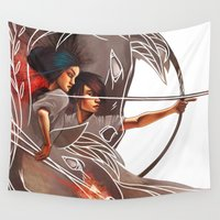 sagittarius Wall Tapestries featuring Sagittarius by Tilune Chacon