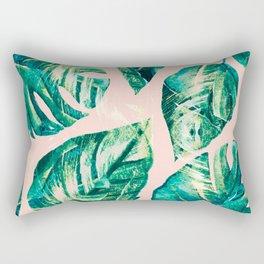 Leaf watercolor pastel Rectangular Pillow