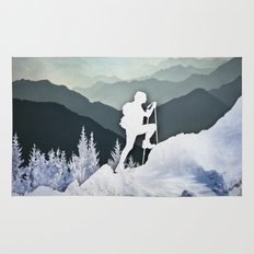 Winter Mountains Rug
