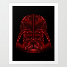 Star . Wars - Darth Vader Red Art Print