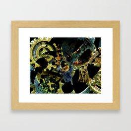 Tina's Steampunk Gears, Scanography Framed Art Print