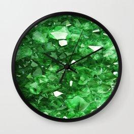 EMERALD GREEN CRYSTALS  MAY BIRTHSTONE Wall Clock