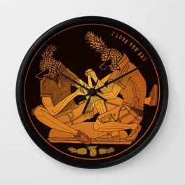 Bromiliad Wall Clock