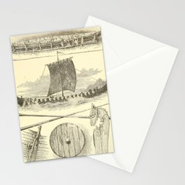 Vintage Vikings Artwork and Illustrations Stationery Cards
