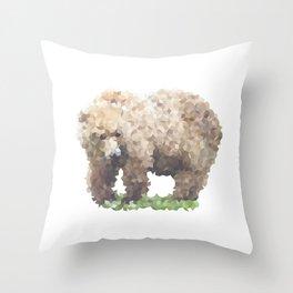 Penrose Tiling Bear Throw Pillow