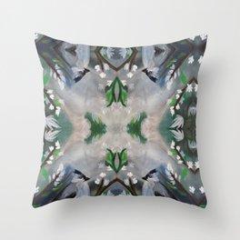Spring Bird Painting  Throw Pillow