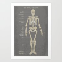 skeleton Art Prints featuring Skeleton by Finlay McNevin