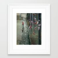school Framed Art Prints featuring School by Peter Campbell