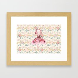 Isabella Bellarina Dancing in Flowers Framed Art Print
