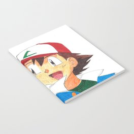 Pika and Ash Ballpoint Pen Drawing Notebook