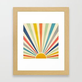 Sun Retro Art III Framed Art Print