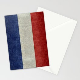 Flag of France, vintage retro style Stationery Cards