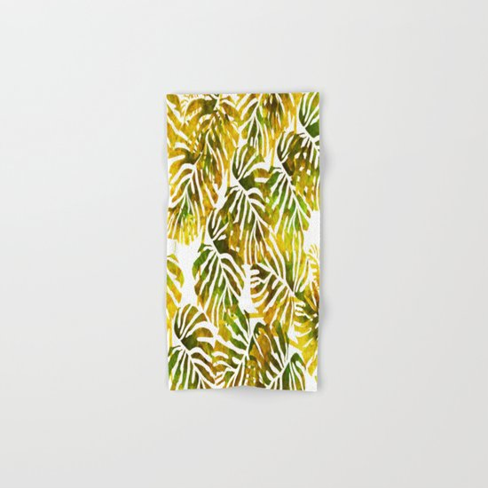 Sunset Tropical Leaves Abstract Hand & Bath Towel